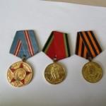 медали за победу над Германией, за оборону Москвы